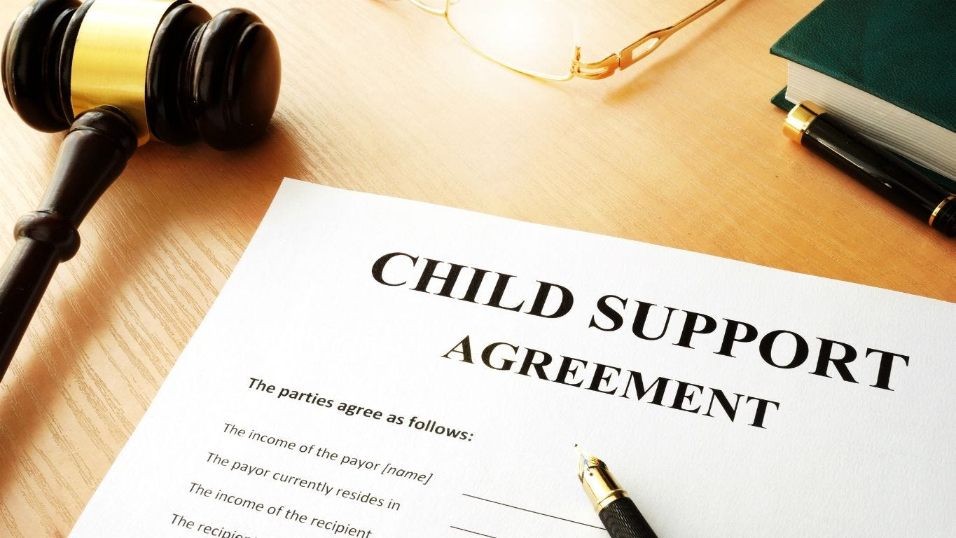 child support reply